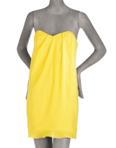 Tibi Strapless Silk Dress