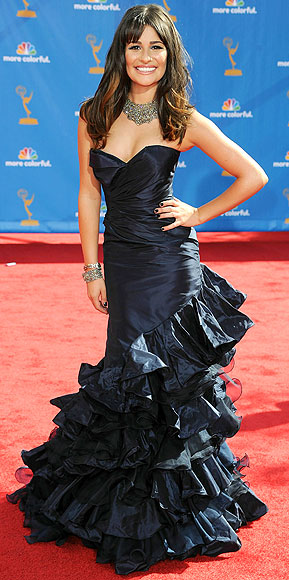 Lea Michele in Oscar de la Renta dress