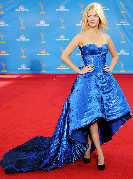 January Jones in Versace dress
