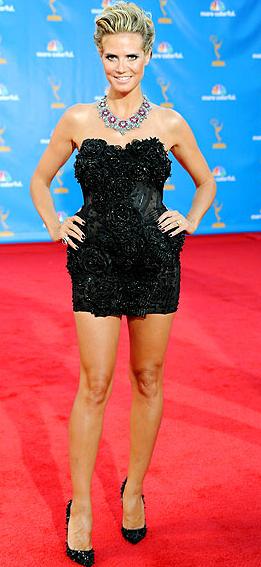 Heidi Klum in Marchesa dress