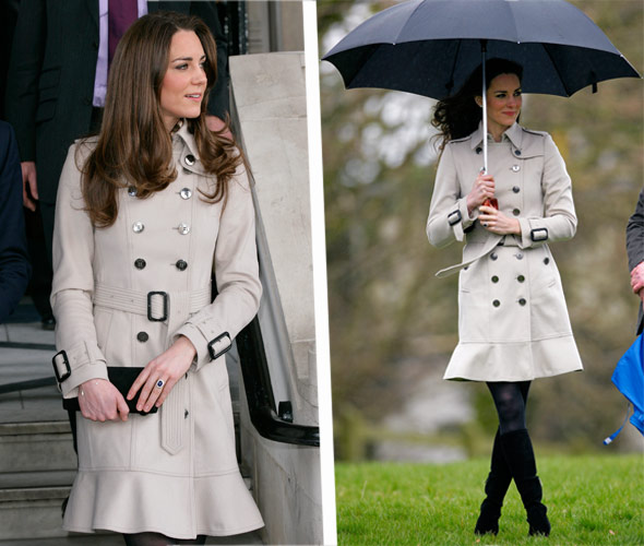 Kate Middleton Burberry Trench Coat Wool
