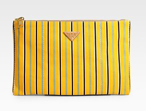 Prada Striped Canvas