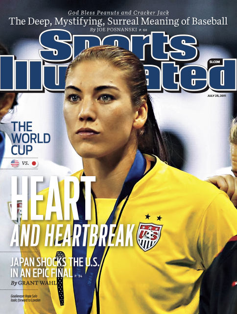 Hope Solo on the cover of Sports Illustrated