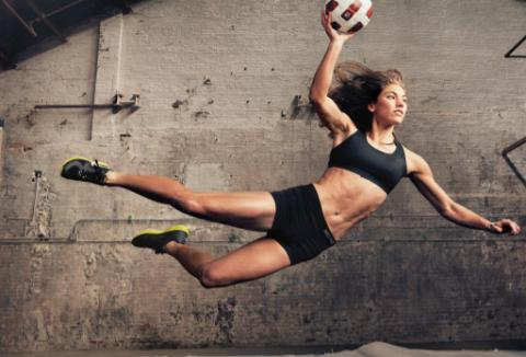 hope solo in Nike Woman: Make yourself ad campaign