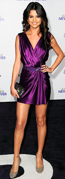 Selena Gomez purple dress