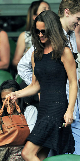 Pippa Middleton in Black Tania dress