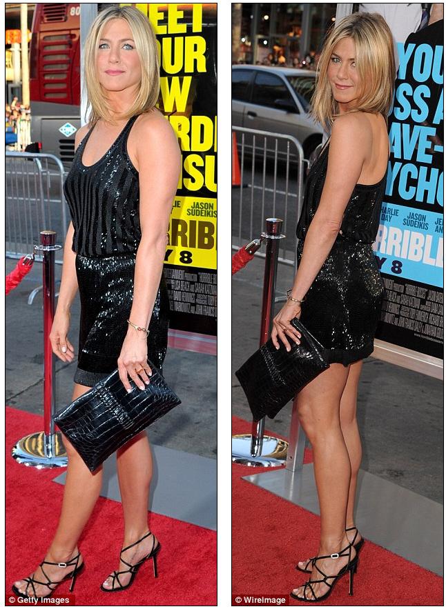 Jennifer Aniston in Balenciaga at Horrible Bosses Premiere