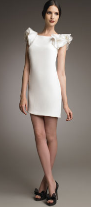 Ruffle-Sleeve Crepe Shift Dress ($660)
