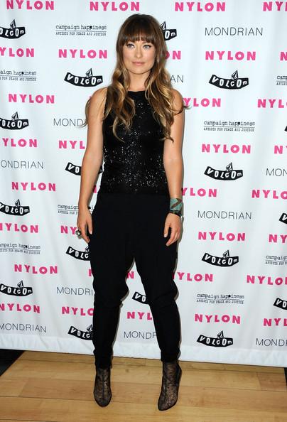 Olivia Wilde in Emporio Armani jumpsuit