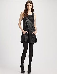 Theory Nidan Lamb-Leather Dress
