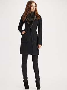 Theory Haliza Long Wool-Blend Coat