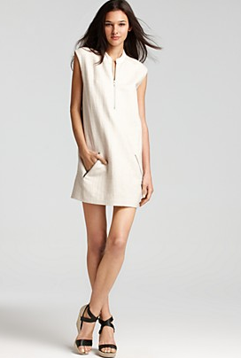Theory Emoran Dress with Leather Details
