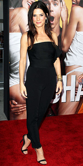 Sandra Bullock in a lanvin jumpsuit at Change-Up Premiere