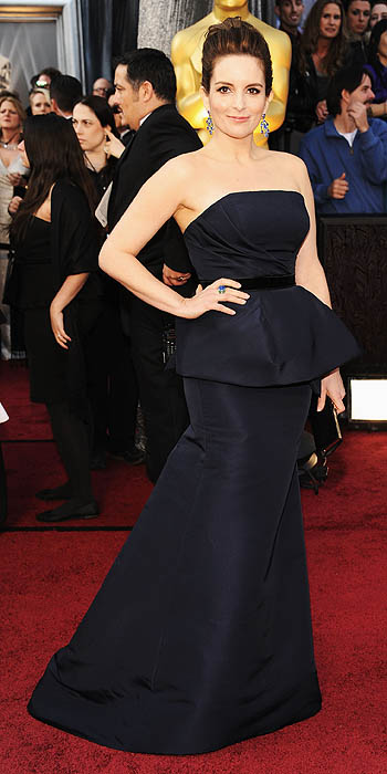 Tina Fey Oscars 2012 Carolina Herrera dress