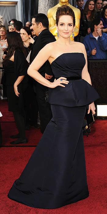 Tina Fey Oscars 2012 Carolina Herrera dress