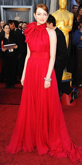 Emma Stone Oscars 2012 Giambattista Valli