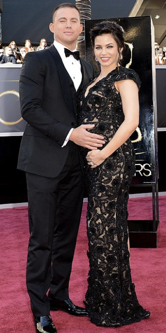 Channing Tatum on Oscars 2013 Red Carpet With Pregnant Wife Jenna Dewan