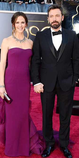 Jennifer Garner and Ben Affleck on Oscars 2013 red carpet