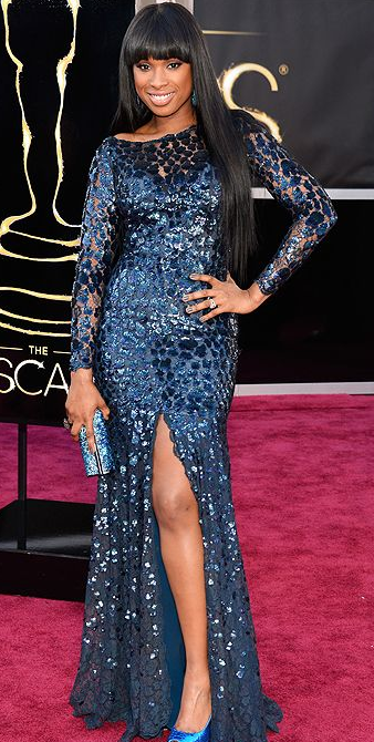 Jennifer Hudson on Oscars 2013 Red Carpet