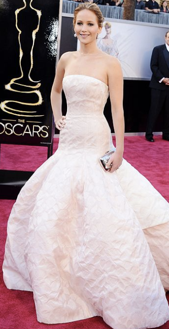 Jennifer Lawrence on Oscars 2013 Red Carpet