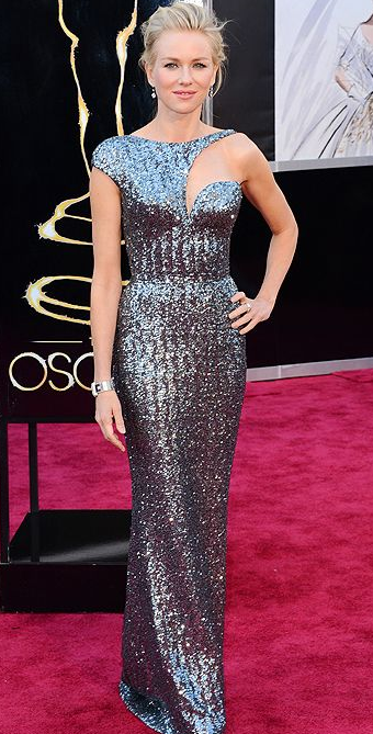 Naomi Watt on Oscars 2013 Red Carpet in Armani Prive