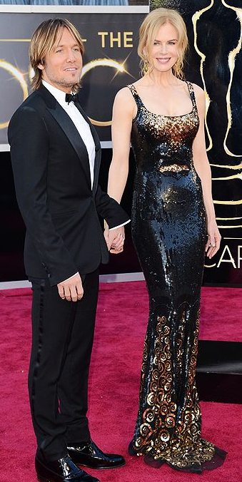 Nicole Kidman and Keith Urban on Oscars 2013 Red Carpet