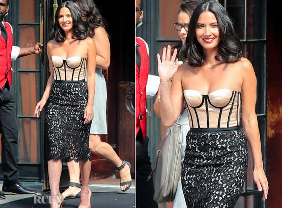 'Newsroom' Star Olivia Munn in Michael Kors at 'Late Night With David Letterman' Taping