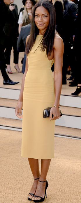 Naomie Harris in Burberry at Burberry Prorsum Spring 2014 Show at London Fashion Week