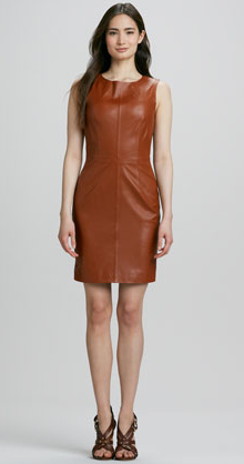 Trina Turk Carnequie Sleeveless Leather Dress