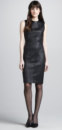 Vince Ponte-Side Leather Dress