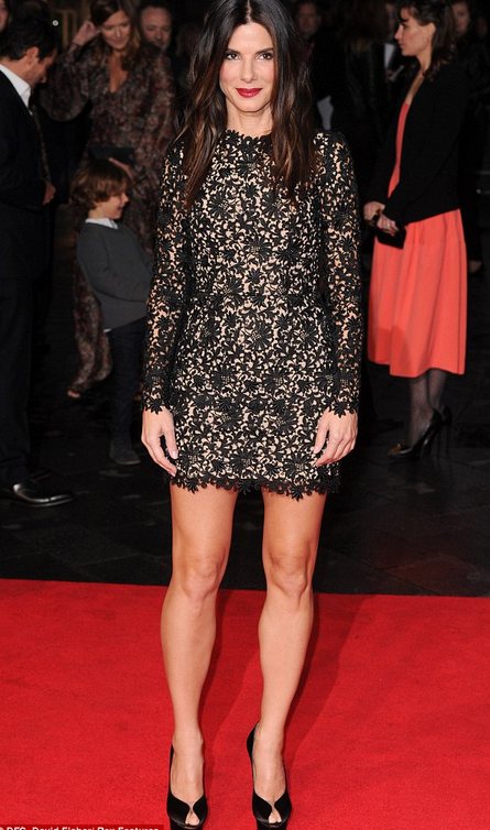 Sandra Bullock in Stella McCartney at Gravity screening