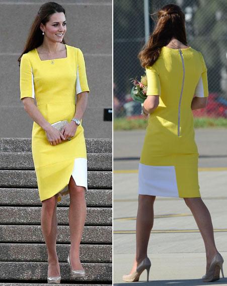 Kate Middle in a Roksanda Ilincic Ryedale Dress, yellow dress