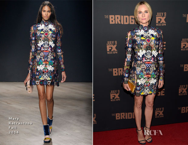 Diane Kruger in Mary Katrantzou Fall 2014 'Dixiecult'
