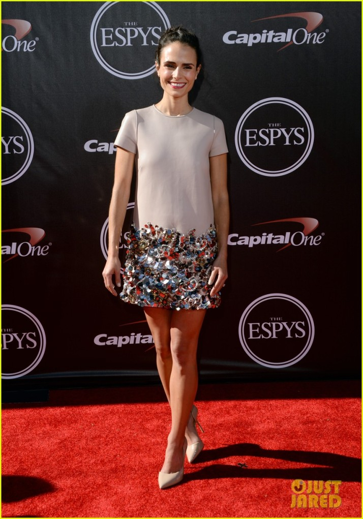 Jordan Brewster in Dsquared2 dress at 2014 Espys